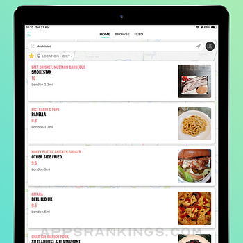 Eaten - The Food Rating App ipad images