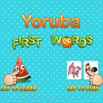 Yoruba First Words ipad images