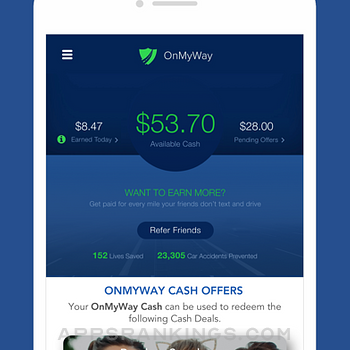 OnMyWay: Drive Safe, Get Paid iphone images