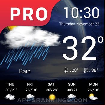 Weather : Weather forecast Pro app reviews and download