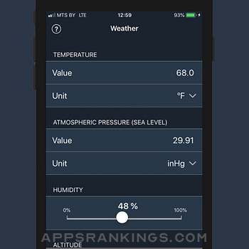 AirLab: Air Density & Altitude iphone images