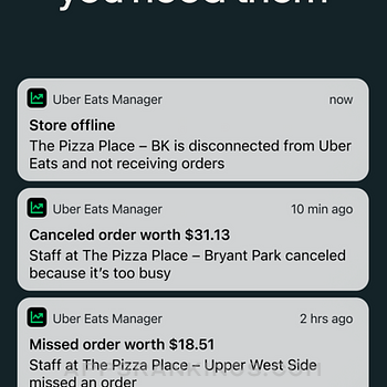 Uber Eats Manager iphone images