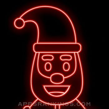 Neon Santa Emojis app overview, reviews and download