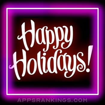 Happy Holidays Neon Stickers app overview, reviews and download