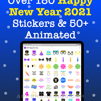 2021 Happy New Year Stickers. Ipad Images
