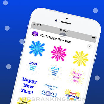 2021 Happy New Year Stickers. iphone images