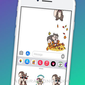 Mitzi Squirrel Emojis iphone images