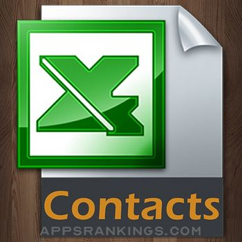 Contacts to Excel app reviews and download