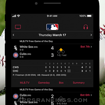 MLB iphone images