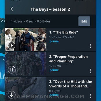Amazon Prime Video iphone images