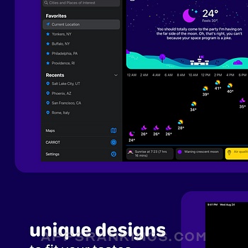 CARROT Weather Ipad Images